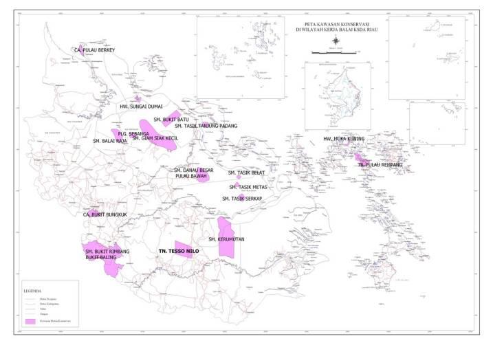 Peta Kawasan Konservasi BKSDA Riau