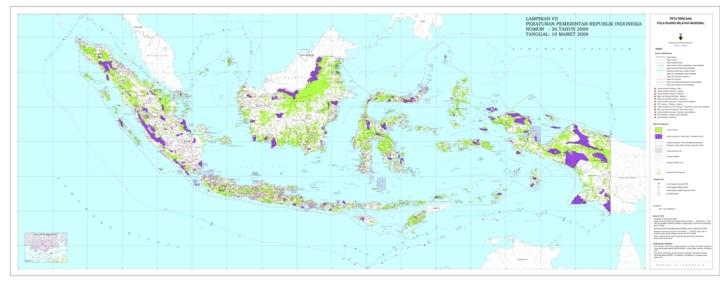 Peta Pola Ruang Wilayah Nasional